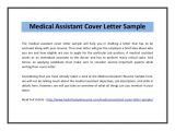 How to Write A Cover Letter for Medical assistant Medical assistant Cover Letter Sample Pdf