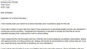 How to Write A Cover Letter for Secretary Position Letter Of Application Letter Of Application for Secretary
