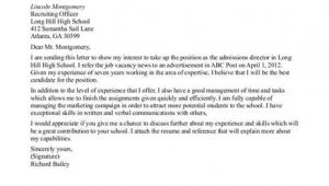 How to Write A Cover Letter for University Admission Admissions Recruiter Cover Letter Sample
