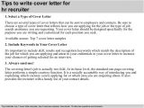 How to Write A Cover Letter to A Recruiter Hr Recruiter Cover Letter