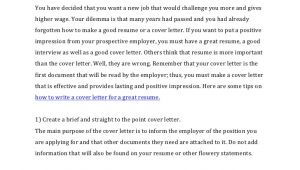 How to Write A Covering Letter for A Cv How to Write A Cover Letter for A Resume