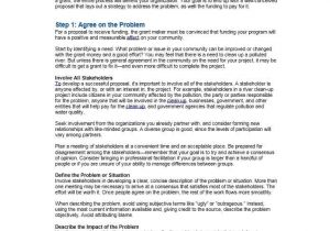 How to Write A Grant Proposal Template 40 Grant Proposal Templates Nsf Non Profit Research