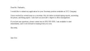 How to Write A Simple Cover Letter for A Job Basic Cover Letter for A Resume