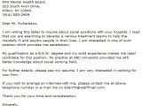 How to Write A social Work Cover Letter social Work Cover Letter Examples Cover Letter now