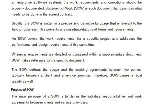 How to Write A Statement Of Work Template 13 Statement Of Work Templates Sample Templates