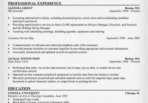Hr assistant Resume Objective Samples Free Hr assistant Resume Resumecompanion Com Resume