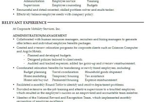 Hr assistant Resume Objective Samples Resume for A Generalist In Human Resources Susan Ireland