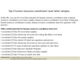 Hr Coordinator Cover Letter Example top 5 Human Resources Coordinator Cover Letter Samples