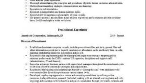 Hr Recruiter Resume Word format Hr Recruiter Resume Examples Samples Human Resources