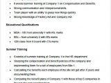 Hr Resume format for Freshers Sample Resume for Hr Fresher Hr Manager Resume Sample