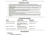 Hr Resume format Word Hr Resume format Template 9 Free Word Pdf format
