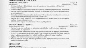 Hr Resume Sample Human Resources Hr Resume Sample Writing Tips