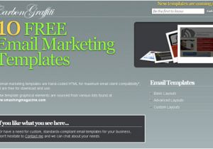 Html Email Advertising Templates 100 Free Responsive HTML E Mail E Newsletter Templates