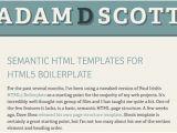 Html Email Template Boilerplate Useful HTML5 Boilerplate Templates and Tutorials Designmodo