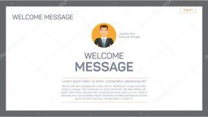 Html Welcome Page Template Modelo De Pagina De Boas Vindas Vetor De Stock C Surfsup
