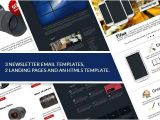 Html5 Email Newsletter Templates Web Design Mini Bundle HTML5 Template Landing Pages