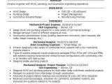 Hvac Project Engineer Resume Mechanical Project Engineer Resume Sample Livecareer