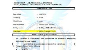 Hvac Site Engineer Resume Hvac Resume Template 10 Free Word Excel Pdf format