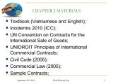 Icc International Sales Contract Template Chapter 2 and 3 Contracts and Incoterms