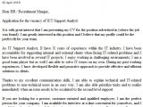 Ict Officer Cover Letter Ict Support Analyst Cover Letter Example Icover org Uk