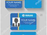 Id Card Background Design Hd Creative Id Card Template Abstract Blue Stock Vector