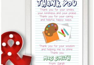 Ideas for A Thank You Card for A Teacher Details About Personalised Teacher Thank You Gifts