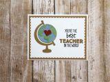 Ideas for A Thank You Card for A Teacher Teacher Appreciation Teacher Thank You Card Thank You Card