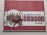 Ideas for Christmas Card Designs Christmas Card Stampin Up Merry Patterns Stamp Set