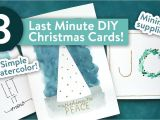 Ideas for Christmas Card Designs Easy Diy Christmas Cards Last Minute Card Ideas Youtube