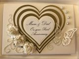 Ideas for Parents Anniversary Card A Wedding Pearl Anniversary Card Made for A Special Friends