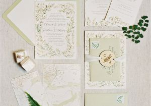 Ideas for Wedding Card Invitation 25 Of the Prettiest Green Wedding Invitations Martha