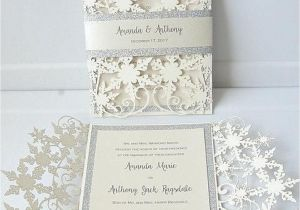 Ideas for Wedding Card Invitation 37 Luxurious Glitter Wedding Invitation Ideas Snowflake