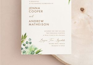 Ideas for Wedding Card Invitation Modern Greenery Wedding Invitation In 2020 Modern Wedding