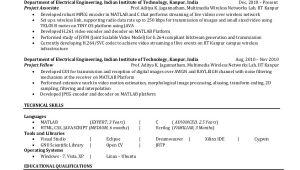 Iit Electrical Engineering Student Resume 6 Electrical Engineering Resume Templates Pdf Doc