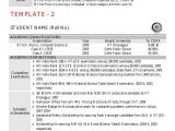 Iit Students Resume Cv Template by Kgp