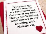 Image Of Marriage Anniversary Card 4th Wedding Anniversary Gift for Husband Samyysandra Com