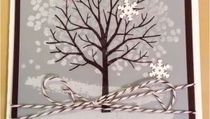 Images Of Birthday Card Handmade Using the Sheltered Tree Stamp Set From Stampin Up A Winter