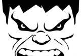 Incredible Hulk Face Template Week 3