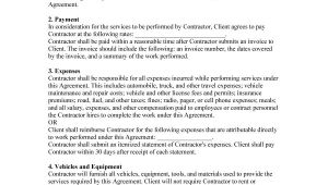 Independent Contractor Employment Contract Template 50 Free Independent Contractor Agreement forms Templates