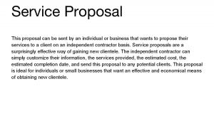 Independent Contractor Proposal Template 10 Best Images Of Independent Proposal forms Independent