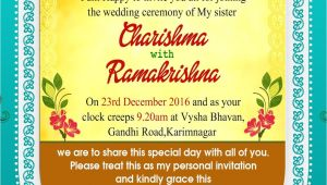 Indian Wedding Card Invitation Template Indian Wedding Invitation Wordings Psd Template Free for