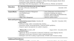 Industrial Engineer Resume Objective Industrial Engineering Resume