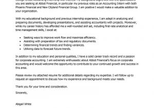 Industrial Placement Cover Letter Internship Cover Letter