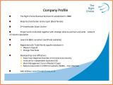 Industry Profile Template 5 Company Business Profile Template Company Letterhead
