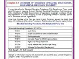 Information Security Standards Template iso 27001 Information Security Templates sop Risk Sample