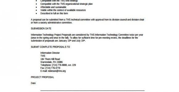 Information Technology Proposal Template 8 Technology Proposal Templates Sample Templates