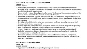 Instrumentation Engineer Resume Instrumentation Engineer Resume Samples Velvet Jobs