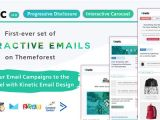 Interactive Email Template Kinetic Uxified Interactive Emails for Ecommerce