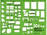 Interior Design Drafting Templates Alvin Td7161 Interior Design Drafting Template Kitchen