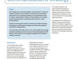 Internal Comms Strategy Template 8 Sample Communication Strategy Templates Sample Templates